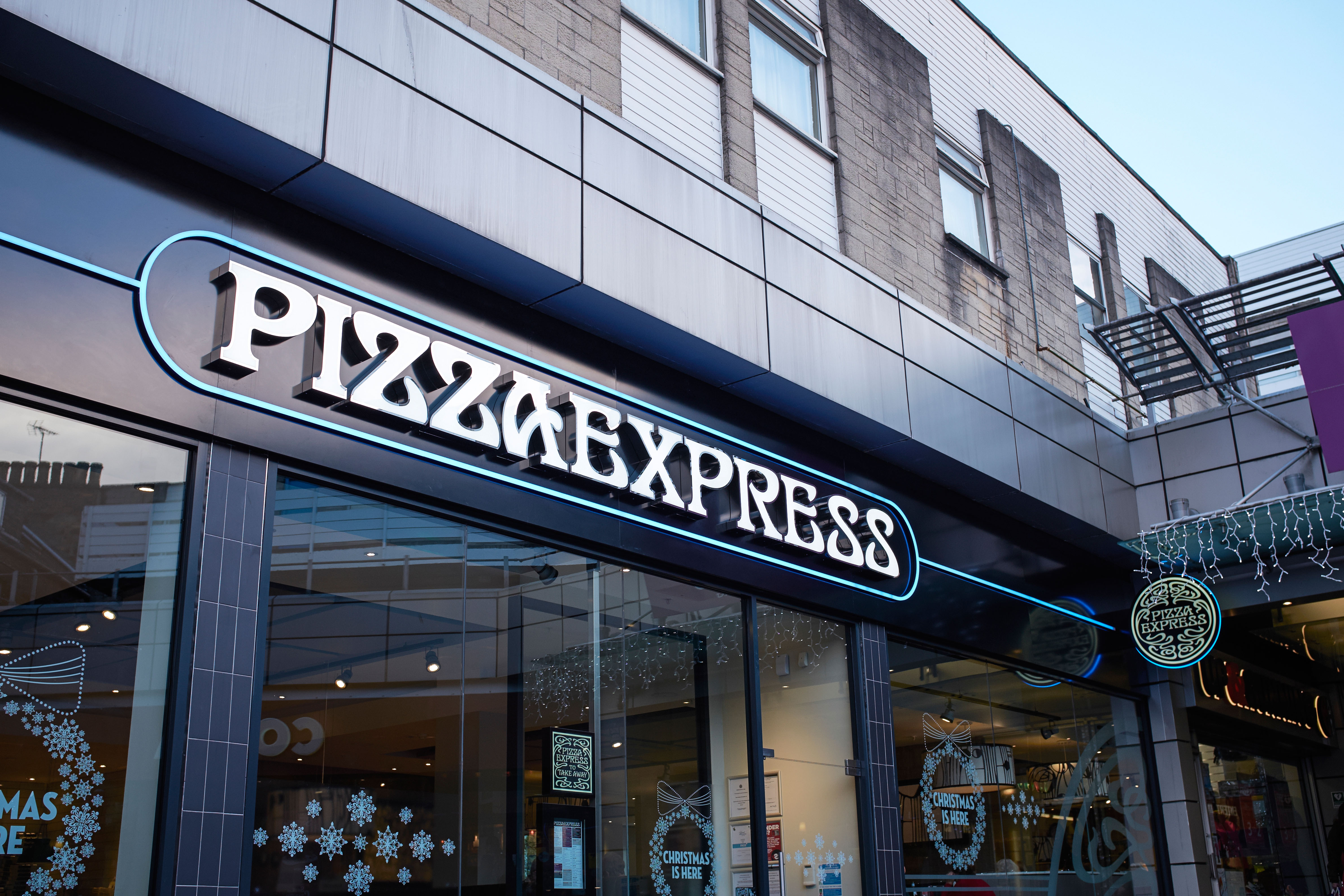 Exterior Of A Pizza Express Restaurant In Stirling City
